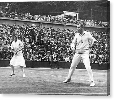 Wimbledon Championship Play Canvas Print by Underwood Archives