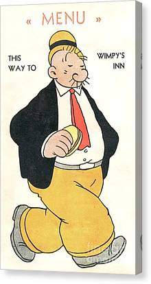 Wimpy's Menu - Poster Canvas Print by Pg Reproductions