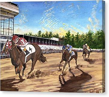 Win Place Show Canvas Print by Kevin F Heuman