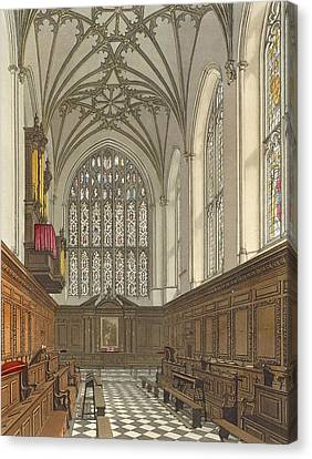 Winchester College Chapel, From History Canvas Print by Frederick Mackenzie