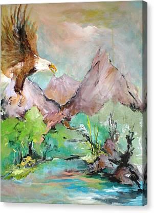 Wind Beneath My Wings Canvas Print by Mary Spyridon Thompson