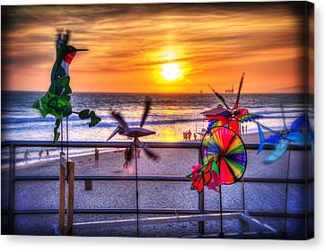 Wind Chimes At Sunset Canvas Print by Spencer McDonald