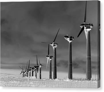 Wind Power Down Canvas Print by Daniel Hagerman