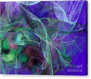 Wind Through The Lace Canvas Print by Andee Design