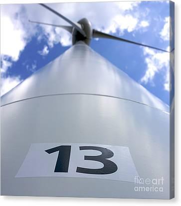 Wind Turbine. No 13 Canvas Print by Bernard Jaubert