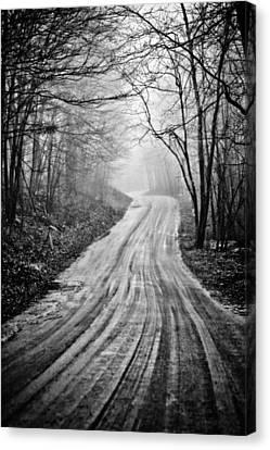 Winding Dirt Road Canvas Print by Karol Livote