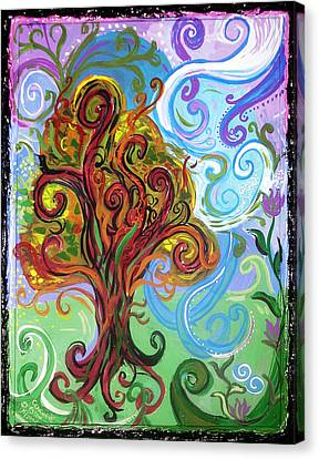 Winding Tree Canvas Print by Genevieve Esson