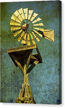 Windmill Abstract Canvas Print by Garry Gay