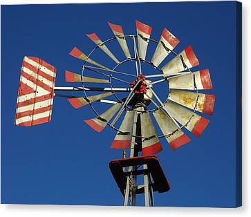 Windmill Close Up Canvas Print by Kay Sparks