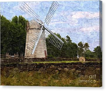 Windmill Canvas Print by Diane Goulart