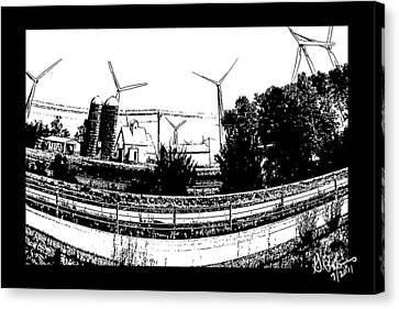 Windmill Farm Canvas Print by Gerry Robins