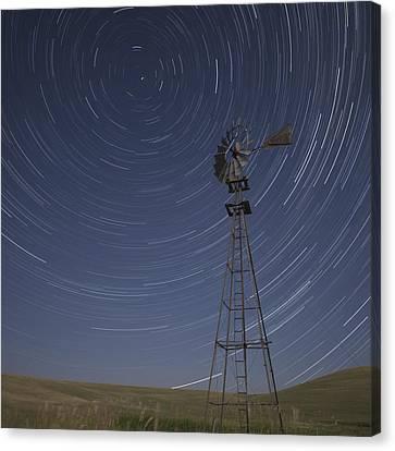 Windmill Stars Canvas Print by Latah Trail Foundation