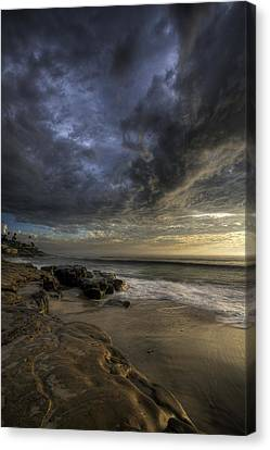 Windnsea Stormy Sky Canvas Print by Peter Tellone