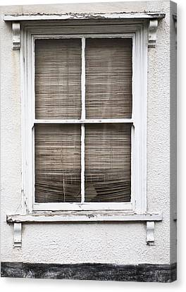 Window And Blind Canvas Print by Tom Gowanlock