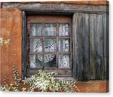 Window At Old Santa Fe Canvas Print by Kurt Van Wagner