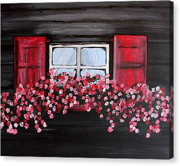 Window Box Canvas Print by Vicki Kennedy