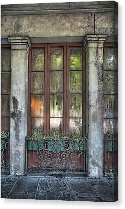 Window In The Quarter Canvas Print by Brenda Bryant