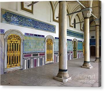 Window Of The Chamber Of The Holy Mantle In The Topkapi Palace Istanbul Turkey Canvas Print by Ralph A  Ledergerber-Photography