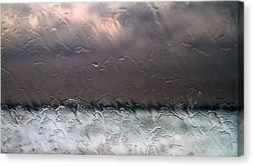 Window Sea Storm Canvas Print by Stelios Kleanthous