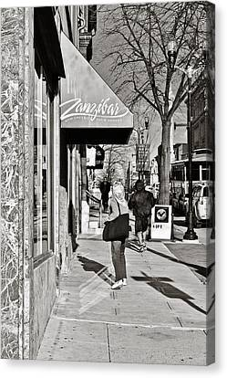 Window Shopping In Lancaster Canvas Print by Trish Tritz