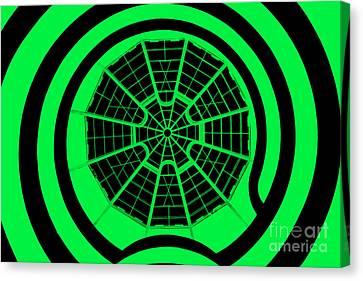 Window To Another World In Green - Black Canvas Print by Az Jackson