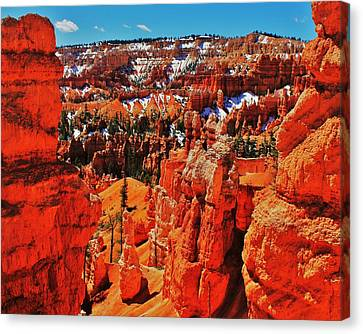 Window To Bryce Canvas Print by Benjamin Yeager