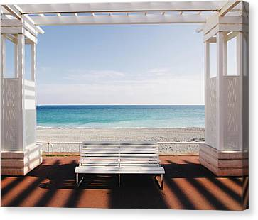 Window To The Sea Canvas Print by Paco Palazon