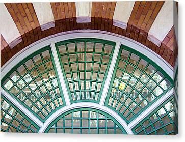 Windows Of Ybor Canvas Print by Carolyn Marshall