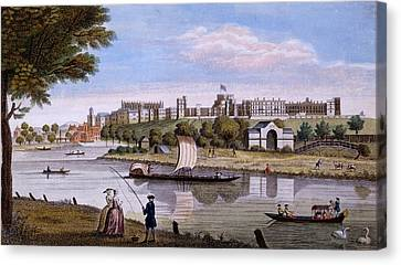 Windsor Castle From Across The Thames Canvas Print by English School