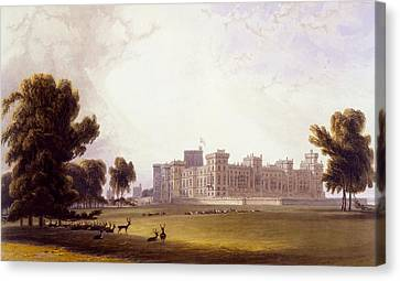 Windsor Castle From The South End Canvas Print by William Daniell