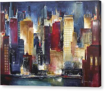 Windy City Nights Canvas Print by Kathleen Patrick