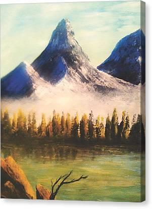 Windy Little Tree Canvas Print by Jessie J De La Portillo
