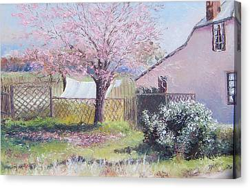 Windy Washing Day Canvas Print by Jan Matson