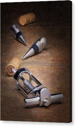 Wine Accessory Still Life Canvas Print by Tom Mc Nemar