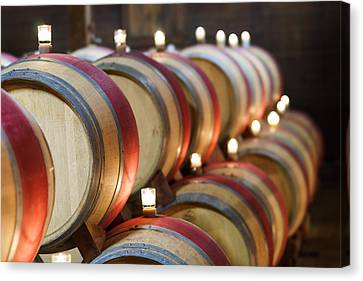 Wine Barrels Canvas Print by Francesco Emanuele Carucci