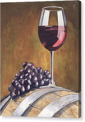 Wine Beauty Canvas Print by Julie Senf