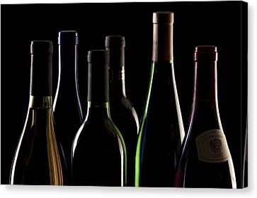 Wine Bottles Canvas Print by Tom Mc Nemar