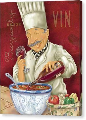Wine Chef II Canvas Print by Shari Warren
