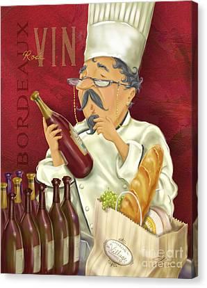 Wine Chef Iv Canvas Print by Shari Warren