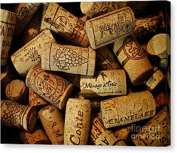 Wine Corks Canvas Print by Mark Miller