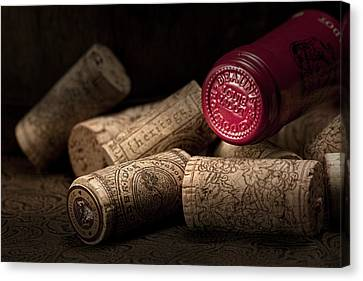 Wine Corks Still Life Iv Canvas Print by Tom Mc Nemar