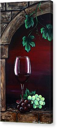 Red Wine Sunset Canvas Print by Dani Abbott