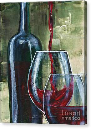 Wine For Two Canvas Print by Lisa Owen-Lynch