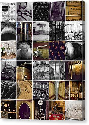 Wine Lovers Collage Canvas Print by Georgia Fowler