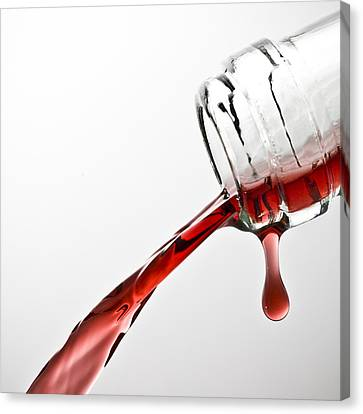 Wine Pour Canvas Print by Frank Tschakert