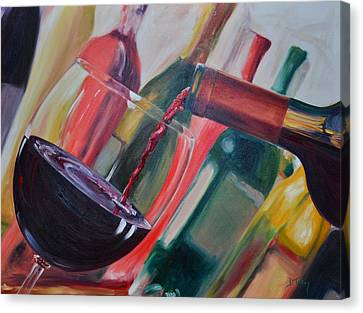 Wine Pour IIi Canvas Print by Donna Tuten