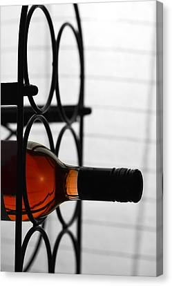 Wine Rack Canvas Print by Toppart Sweden