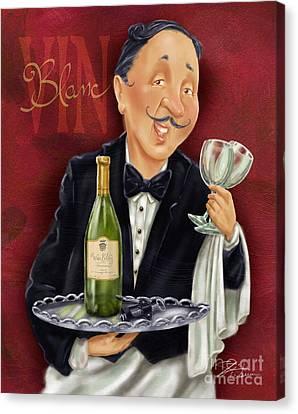 Wine Sommelier Canvas Print by Shari Warren