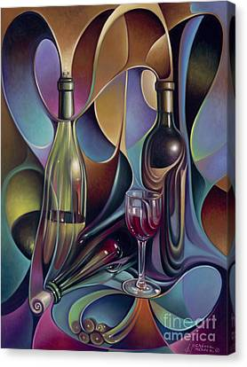 Wine Spirits Canvas Print by Ricardo Chavez-Mendez