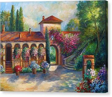 Winery In Tuscany Canvas Print by Regina Femrite